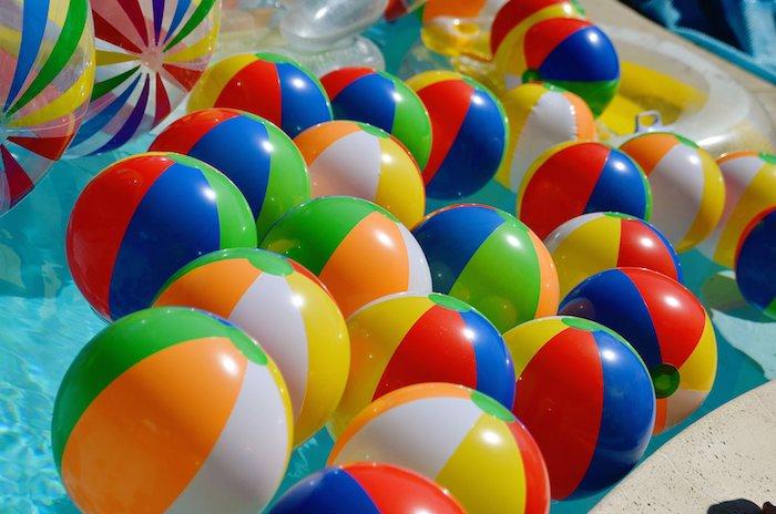 Kara's Party Ideas Beach Ball Themed Birthday Party Via