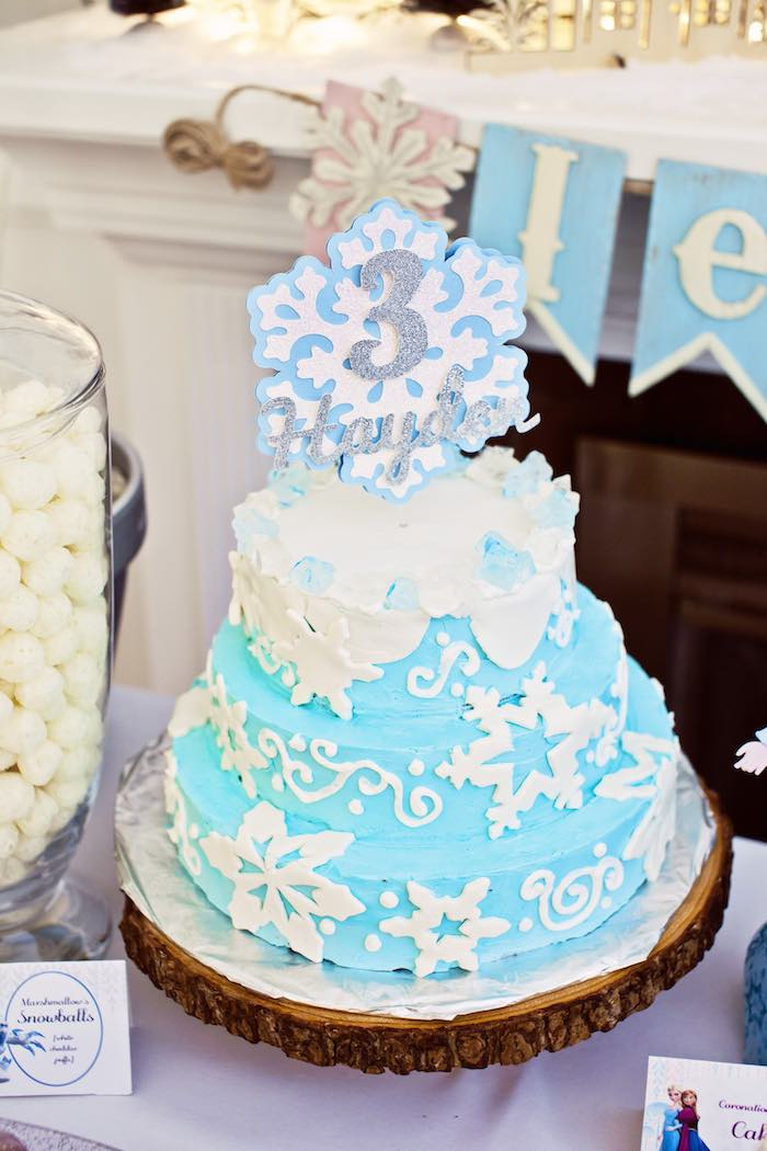 Frozen Birthday Party via Kara's Party Ideas KarasPartyIdeas.com Party supplies, cake, tutorials, printables, giveaways and more! #frozen #frozenparty #winterwonderlandparty #frozenpartyideas #karaspartyideas #partyplanning #partydesign (25)