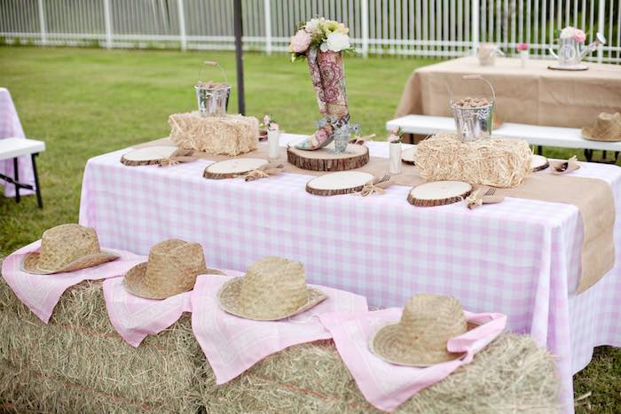 Kara S Party Ideas Shabby Chic Cowgirl Birthday Via