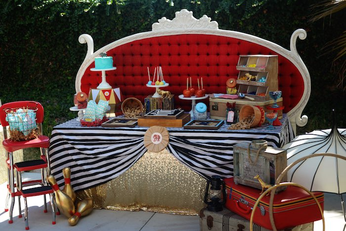 Karas Party Ideas Vintage Circus Inspired Baby Shower