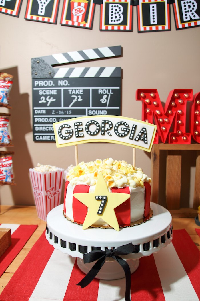 Karas Party Ideas Movie Theatre Birthday Party via Karas Party Ideas  KarasPartyIdeascom 14
