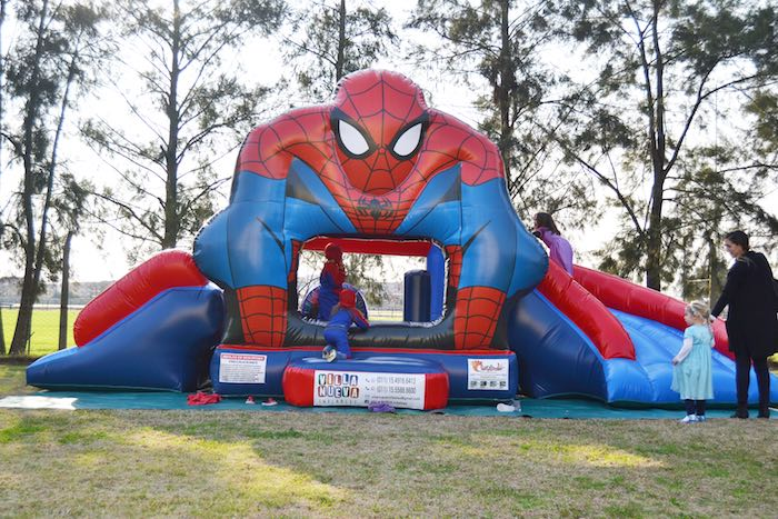 Kara's Party Ideas Bounce House From A Spiderman Birthday Party