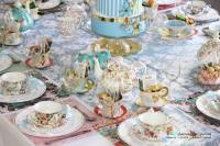 Kara's Party Ideas Tea Tablescape from a Baby Shower Tea ...
