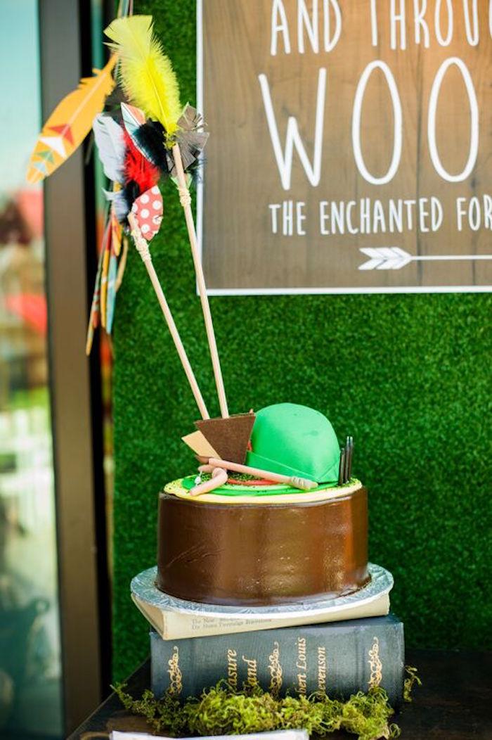 Kara S Party Ideas Robin Hood Themed Cake From A Robin