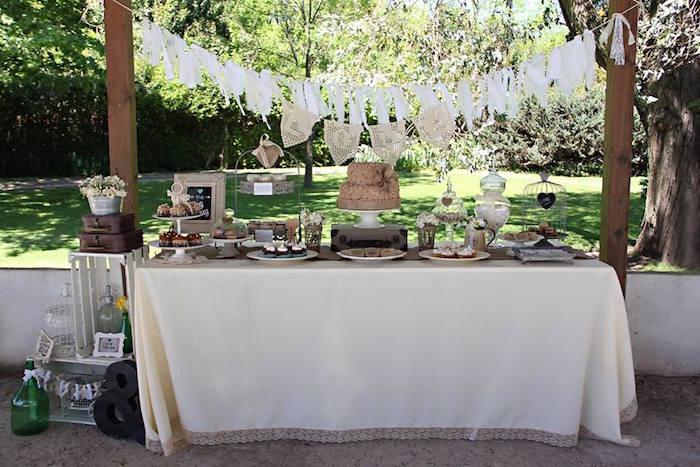 Kara's Party Ideas Dessert Table From A Vintage Shabby