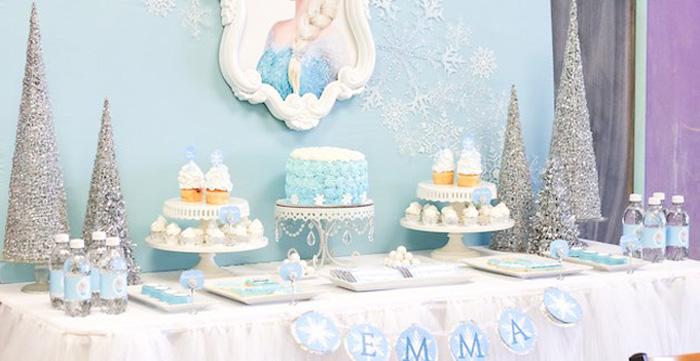 Kara's Party Ideas Frozen Dessert Table Birthday Party
