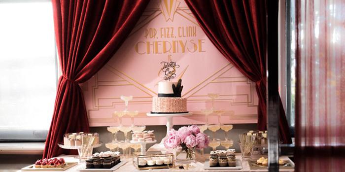 Karas Party Ideas Glamorous Old Hollywood Vintage Birthday Party