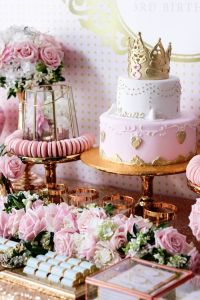 Kara's Party Ideas Copper, Pink & Gold Princess Party ...