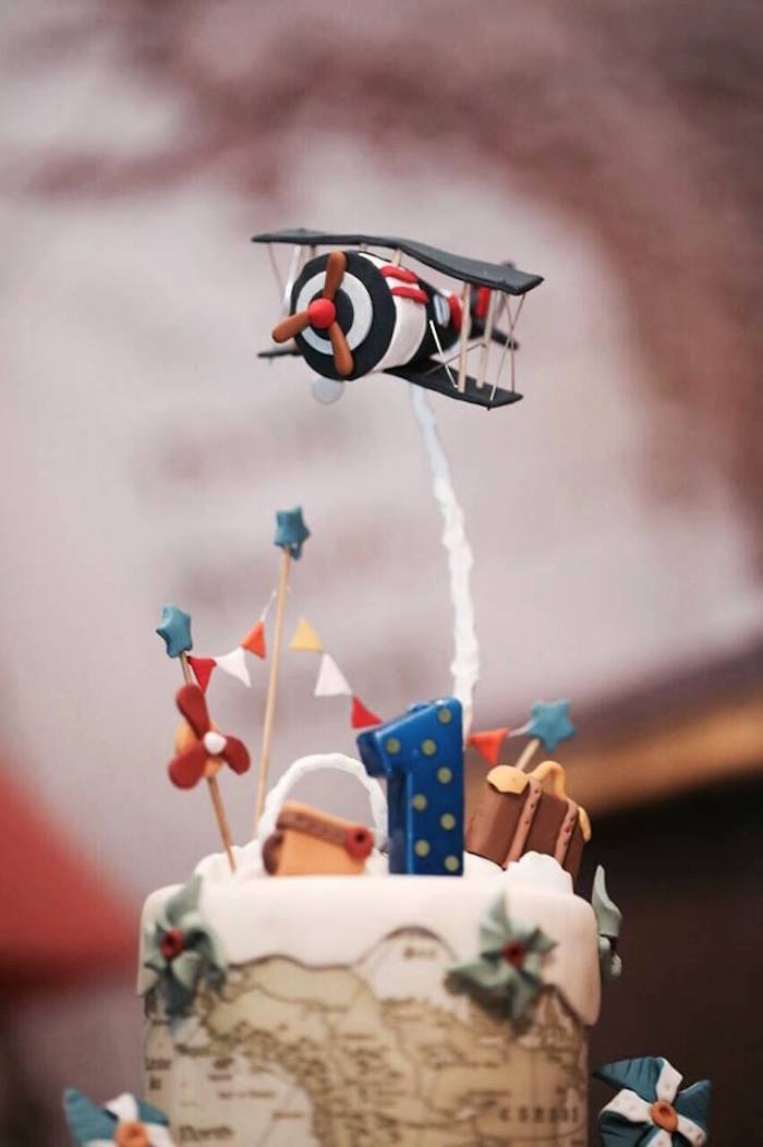 Karas Party Ideas Airplane Inspired 1st Birthday Party