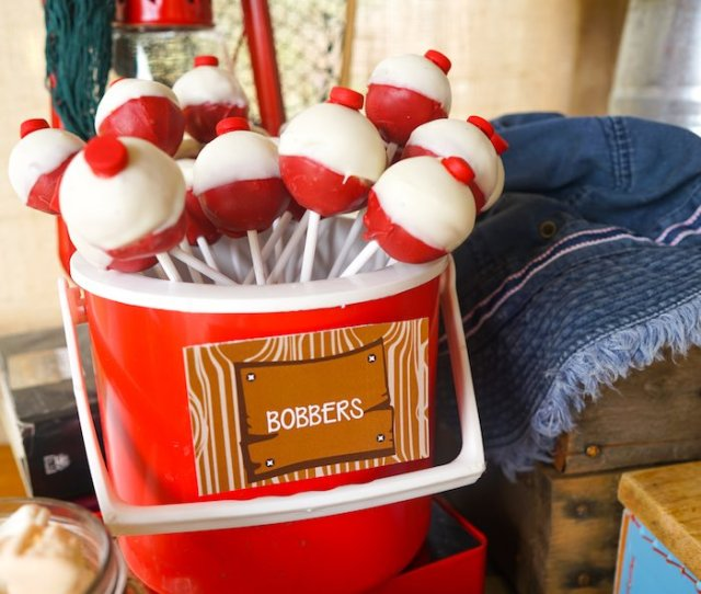 Fishing Bobber Pops From A Gone Fishing Birthday Party Via Karas Party Ideas Karaspartyideas