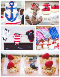 Kara's Party Ideas Nautical Baby Shower + Birthday Party ...