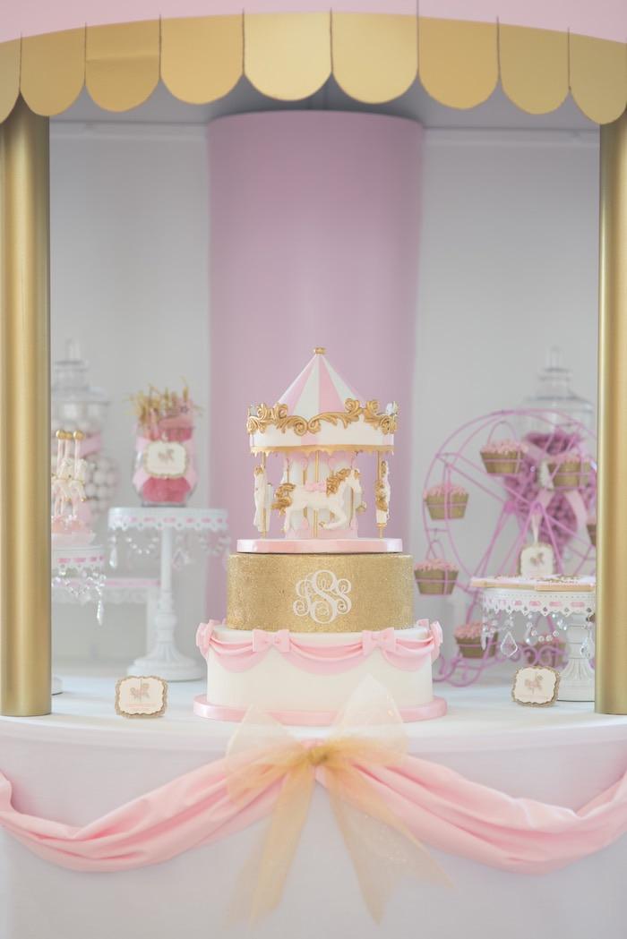 Kara S Party Ideas Pink Carousel Birthday Party Kara S