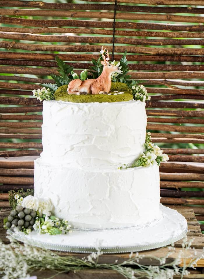 Bird Theme Wedding Cake