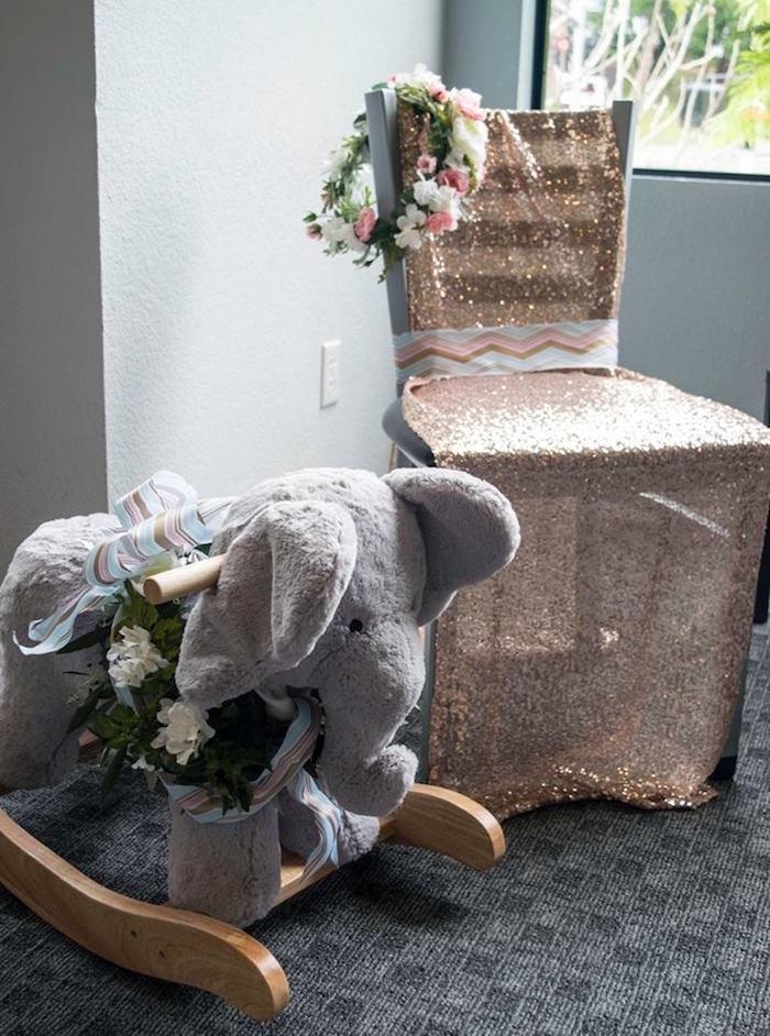 baby rocker chair recliner swivel kara's party ideas boho safari shower |