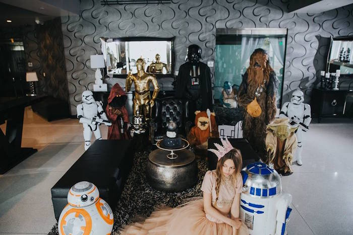 Wallpaper For Baby Girl Room Kara S Party Ideas Galactic Star Wars Themed Birthday