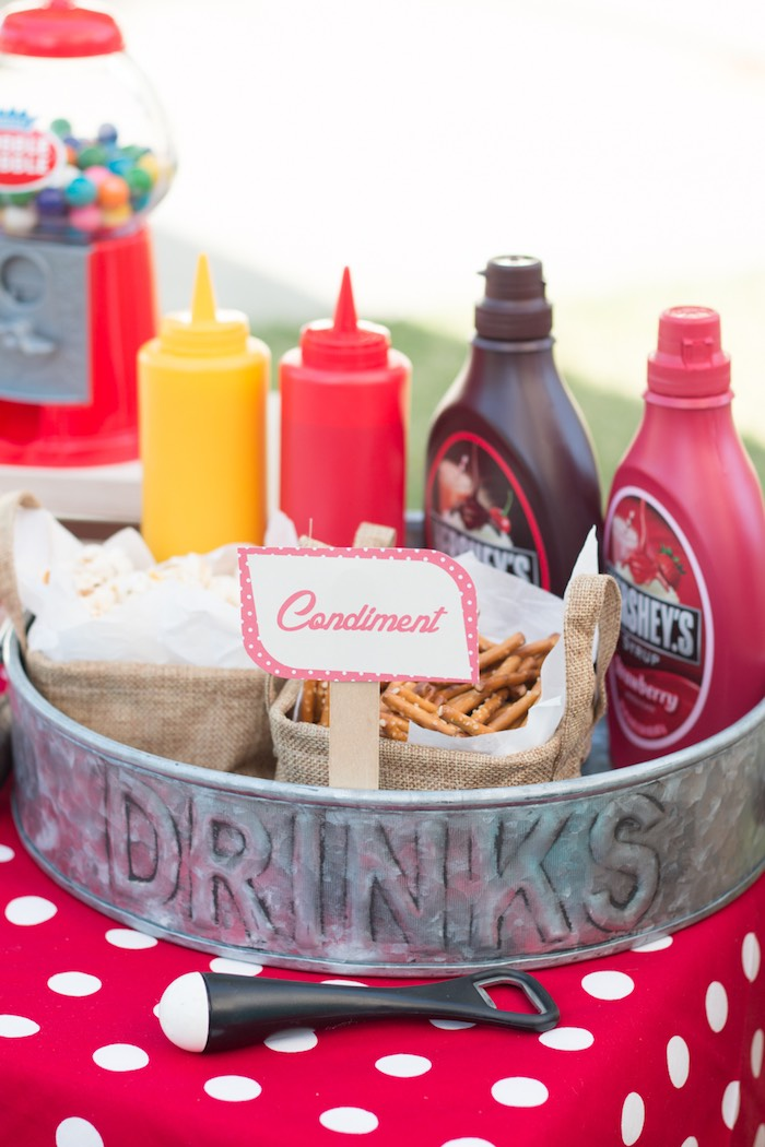 kitchen themed bridal shower banquette furniture kara's party ideas retro diner mother's day ...