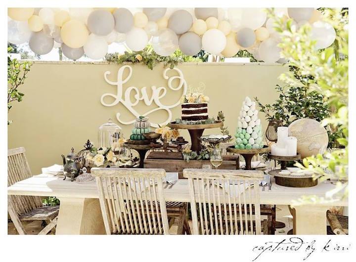 Kara's Party Ideas Rustic Outdoor Bridal Shower
