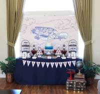 Kara's Party Ideas Airplane Vintage Baby Shower