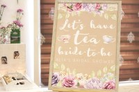 Kara's Party Ideas Afternoon Tea Bridal Shower | Kara's ...