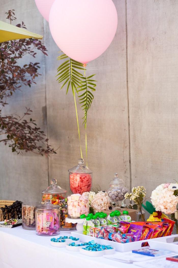 Karas Party Ideas Chic Tropical Hawaiian Themed Birthday
