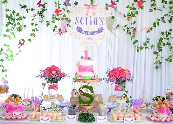 Kara's Party Ideas Enchanted Garden 1st Birthday Party Kara's