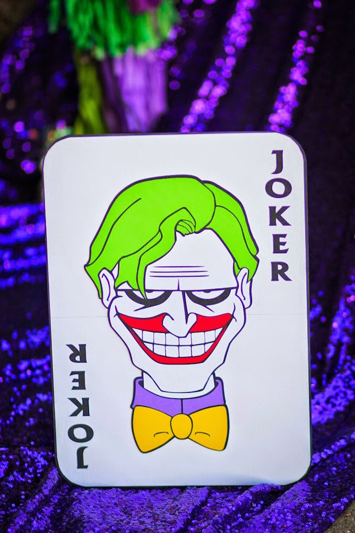 "Kara's Party Ideas Joker Inspired ""Mad Love"" Birthday"