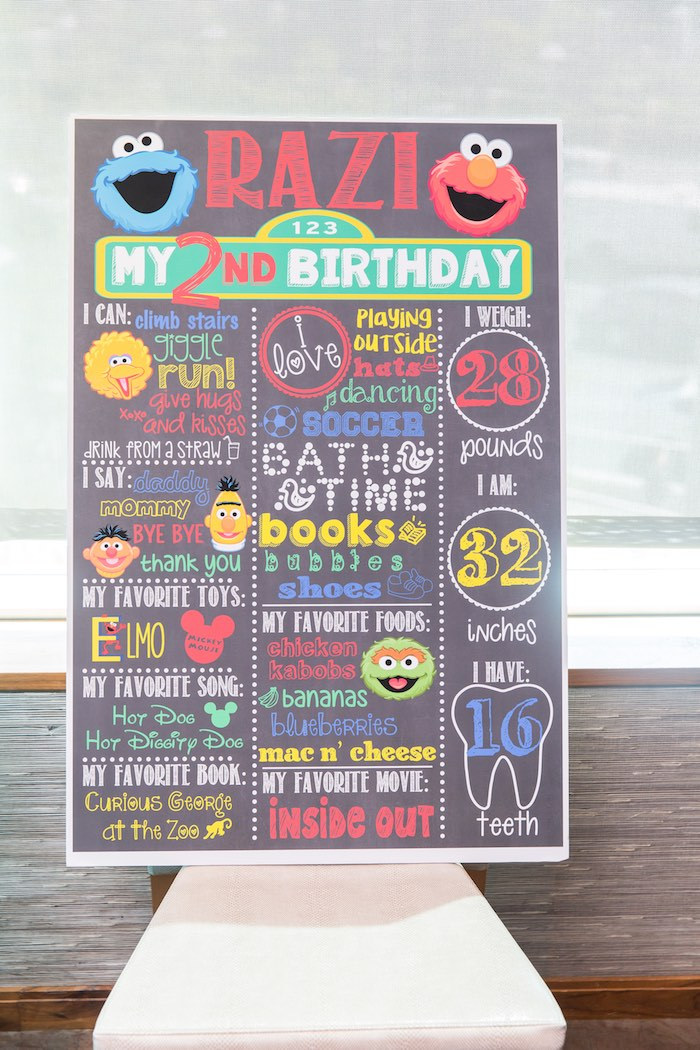 Kara's Party Ideas Birthday Party At Sesame Street Kara