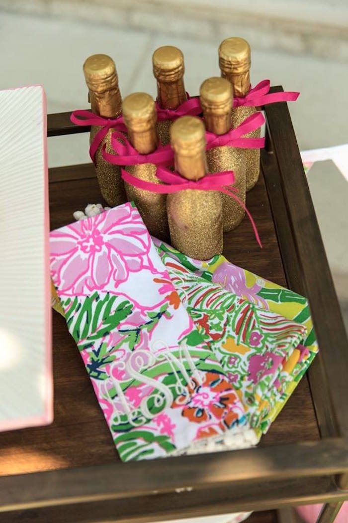 Karas Party Ideas Lilly PulitzerInspired Tropical Bridal