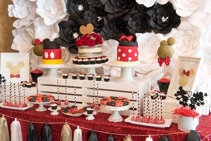 Kara S Party Ideas Glam Minnie Mouse Birthday Party Kara