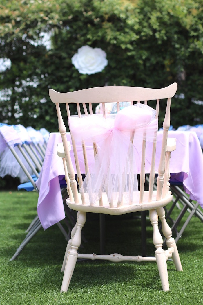 chair attached table ikea stacking chairs kara's party ideas shabby chic alice in wonderland baby shower |