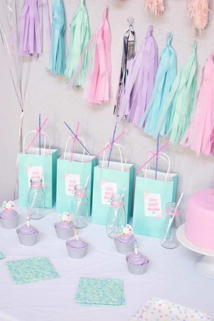 Karas Party Ideas Pastel Painting  Art Themed Birthday