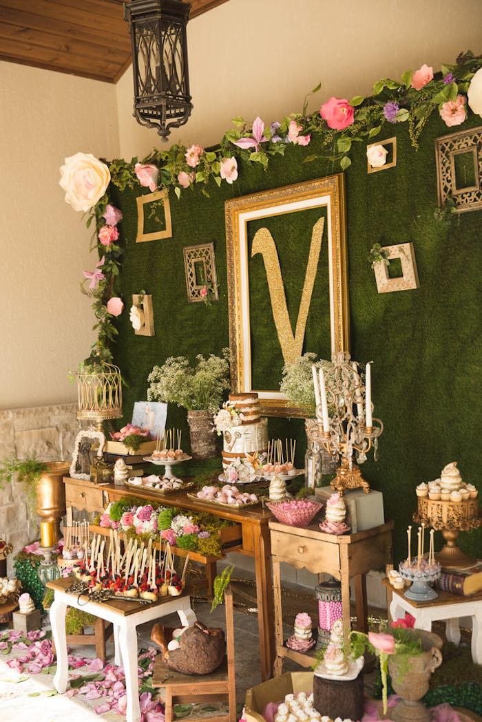 Karas Party Ideas Vintage Enchanted Garden Birthday Party Karas Party Ideas