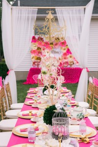Kara's Party Ideas Pink & Gold Garden Tea Party   Kara's ...