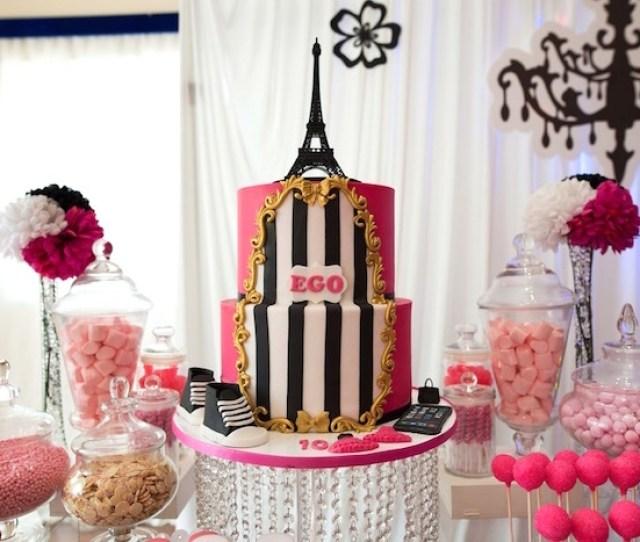 Sweet Table From A Paris 10th Birthday Party On Karas Party Ideas Karaspartyideas Com