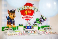 Kara's Party Ideas Chic Paw Patrol Birthday Party | Kara's ...