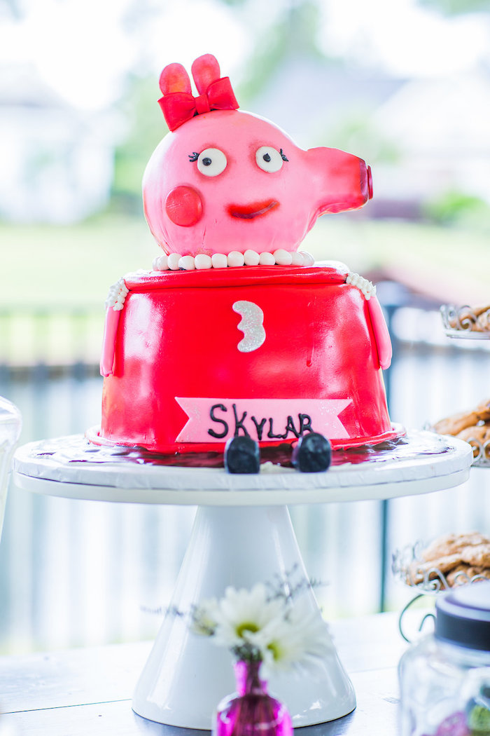 Kara S Party Ideas Cheerful Peppa Pig Birthday Party