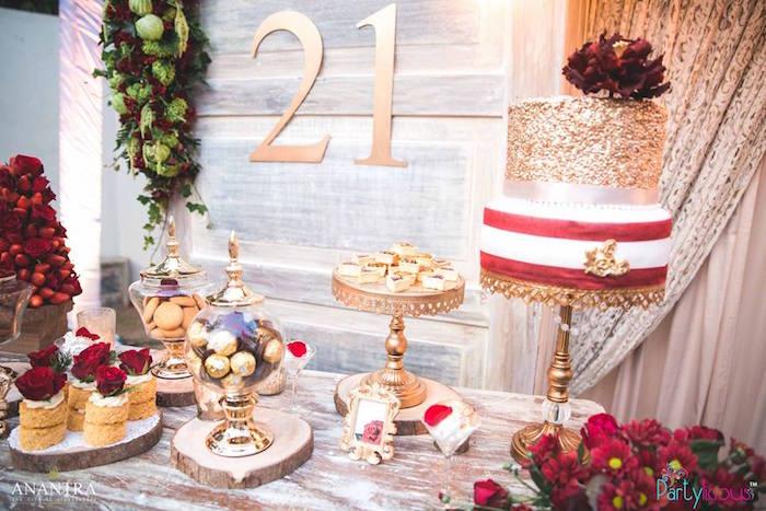 21st Birthday Table Decorations Ideas Image Inspiration