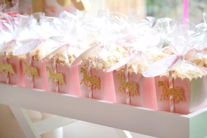 Karas Party Ideas Floral Carousel Birthday Party  Karas