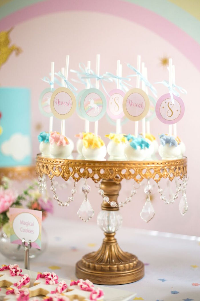 Kara S Party Ideas Floral Rainbow Glam Unicorn Birthday