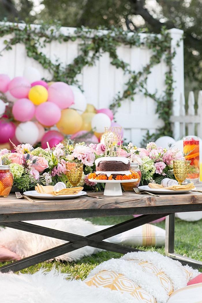 Kara's Party Ideas Outdoor Garden Gluten Free Birthday Party