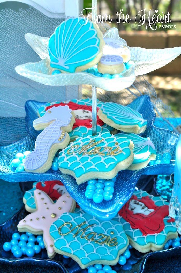 Karas Party Ideas Vintage Glamorous Little Mermaid