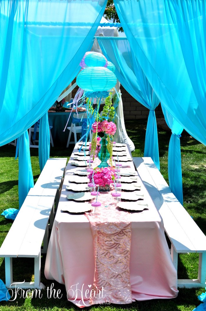 Karas Party Ideas Vintage Glamorous Little Mermaid