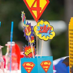 Baby Table And Chairs Office Chair Cushion Kara's Party Ideas Calling All Superheroes Birthday |
