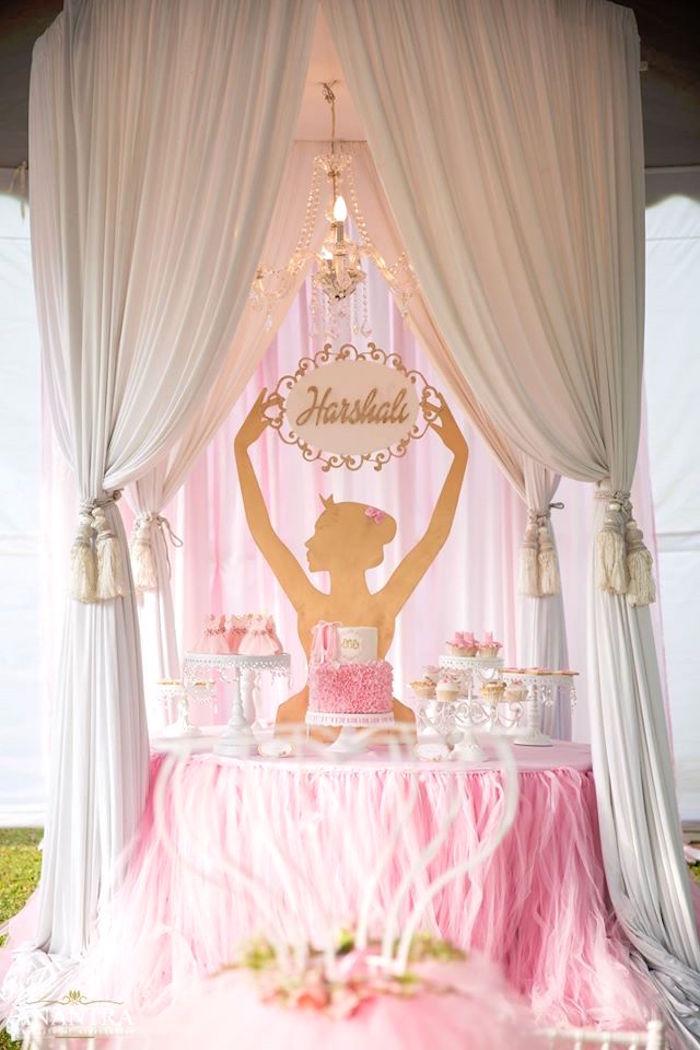 Kara's Party Ideas Elegant Ballerina Birthday Party Kara