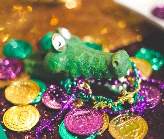 Coins And Beads From A Mardi Gras Themed Birthday Party On Karas Party Ideas Karaspartyideas