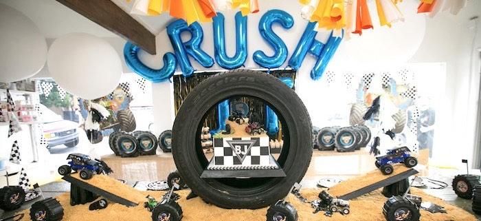 Kara S Party Ideas Monster Truck Birthday Party Kara S