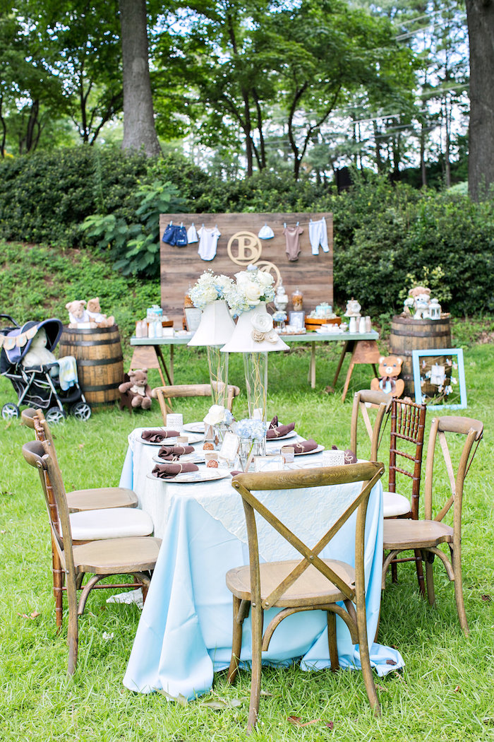 baby shower chairs for rent colorful wooden dining kara's party ideas bottles and burlap |