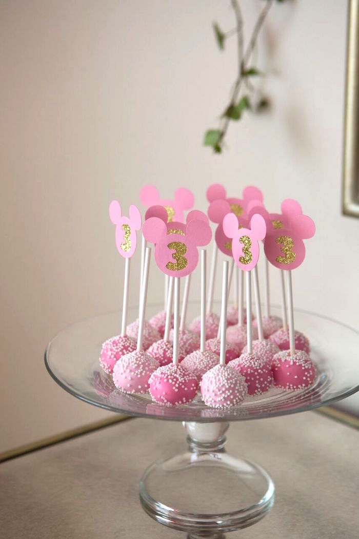 Kara S Party Ideas Floral Minnie Mouse Birthday Party
