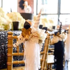How To Make A Chair Cover For Wedding Wheeless Office Kara's Party Ideas Elegant Black And Gold Unicorn  