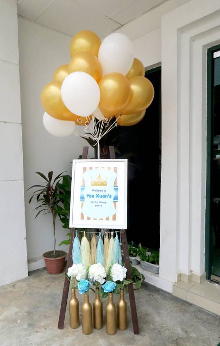 Karas Party Ideas Royal Prince First Birthday Party